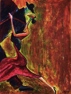 Alice Yang; Tango, 2009, Original Painting Acrylic, 31 x 41 cm. Artwork description: 241  41x 31Acrylic on arylic paper ...
