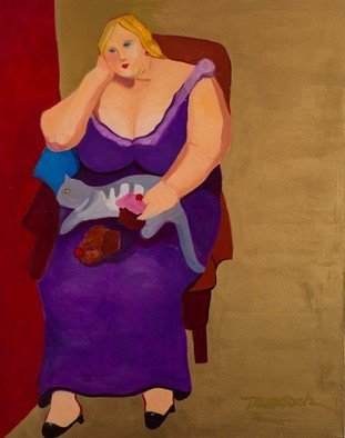 Alice Murdoch, , , Original Painting Oil, size_width{Purple_Dress-1316292718.jpg} X