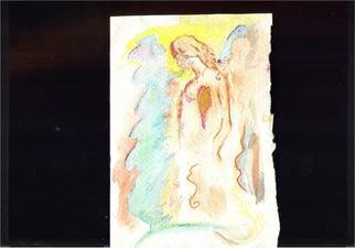 Alicia Steffes; Angel 3, 2010, Original Watercolor, 0.7 x 0.8 inches.