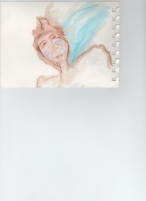 Alicia Steffes; Angel 4, 2010, Original Watercolor, 0.7 x 0.9 inches.