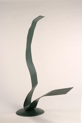 Ali Gallo; Bend In The Road, 2011, Original Sculpture Steel, 55 x 66 inches. Artwork description: 241   painted welded steel  ...