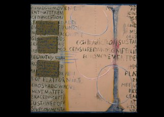 Ali Gallo; Just Passing Thru, 2007, Original Mixed Media, 48 x 48 inches. Artwork description: 241  From the passing thru series ...