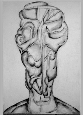 Madalina  Bita; Strange Sadness, 2006, Original Drawing Pencil, 30 x 40 cm. Artwork description: 241  drawing pencil on paper, abstracted human figure shapes...