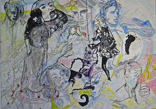Alkistis Wechsler; Franck In Wonderland Nr 1, 2016, Original Painting Oil, 70 x 50 cm. Artwork description: 241  oil painting etc mixed media on canvas....