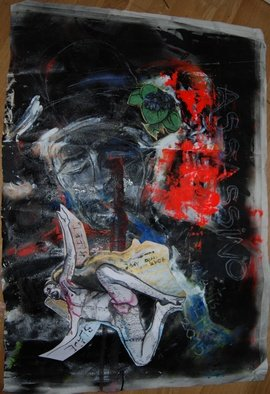 Alkistis Wechsler, Assassino perhaps, 2015, Original Mixed Media, size_width{assassino_perhaps-1488900662.jpg} X 100 x  cm