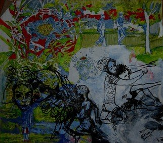 Alkistis Wechsler; Games In An English Garden, 2017, Original Other, 40 x 35 cm. Artwork description: 241 part of the series Le Marais  love against controversy...