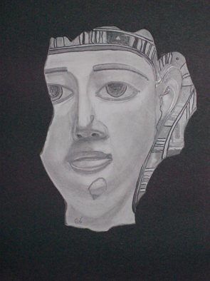 Mamoon Allaf; Ancient Egyptian , 2010, Original Drawing Pencil, 11 x 14 inches.