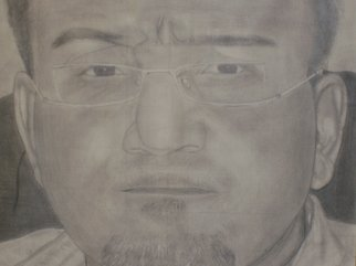 Mamoon Allaf; Me, 2010, Original Drawing Pencil, 30 x 20 inches.