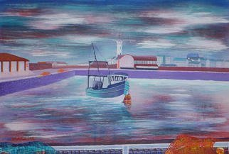 Harry Bayley; Coming To Dock, 1999, Original Illustration, 16 x 11 inches. Artwork description: 241 Painted in acrylics on watercolour paper. Taken from my home town harbour Arbroath, Scotland. ...