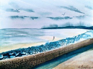 Harry Bayley; Carnoustie Beach, 2017, Original Watercolor, 10 x 8 inches. Artwork description: 241 A watercpolour of Carnoustie beach located in Angus Scotland. ...