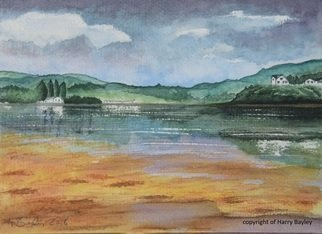 Harry Bayley; Portree 1, 2018, Original Watercolor, 10 x 8 inches. Artwork description: 241 A watercolour scene form the beach at Portree in Skye. ...