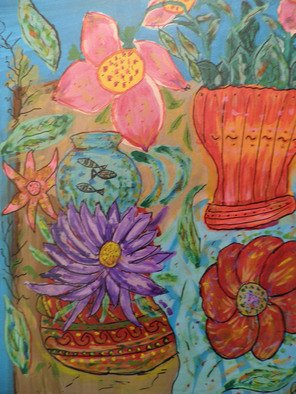 Alvaro Amejeiras; FLOWERS AND FISHBOWL, 2010, Original Painting Acrylic, 25 x 18 inches. Artwork description: 241                xxx               ...