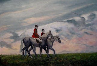 Eleanor Hartwell; Greys, 2003, Original Painting Oil, 24 x 18 inches.