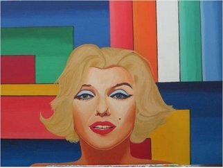 Sergio Roffe; BEAUTIFUL MARILYN, 2011, Original Painting Acrylic, 80 x 65 cm. Artwork description: 241  POP ART.   ...