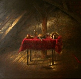 Arnold Ananicz Ananiczius; Interior, 2003, Original Painting Oil, 66 x 61 inches. Artwork description: 241  Still life in the interiour. ...