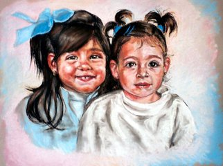 Anastasia Kashian; Andalucian Children, 2005, Original Pastel, 60 x 50 cm. Artwork description: 241  Portrait commissions accepted - please contact me for more details. Pastel, oil, charcoal. Old B/ W photos fine. ...
