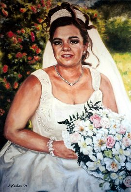 Anastasia Kashian; Spanish Bride, 2007, Original Painting Oil, 74 x 90 cm. Artwork description: 241  Contact me for commissioned work.  ...