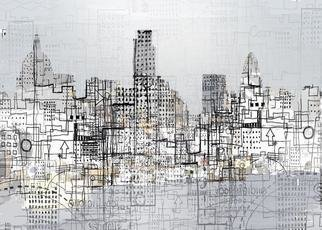 Andrew Mercer; London Logistics, 2009, Original Printmaking Giclee, 65 x 40 cm. Artwork description: 241  A work based on the urban landscape. Different sizes available      ...