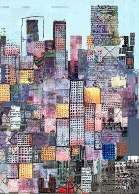 Andrew Mercer; Metropolis , 2008, Original Printmaking Giclee, 33 x 24 inches. Artwork description: 241   A work based on the urban landscape. Different sizes available, also available printed on canvas. This is the signed version of the print sold at iconic retailer Habitat in the UK.          ...