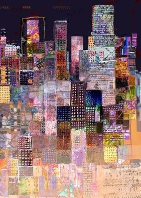 Andrew Mercer; The City That Never Sleeps, 2009, Original Printmaking Giclee, 66 x 100 cm. Artwork description: 241  A work based on the urban landscape. Different sizes available     ...
