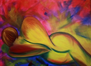 Angelia Young; Expression, 2007, Original Painting Oil, 40 x 30 inches. Artwork description: 241  Colorful, living color ...