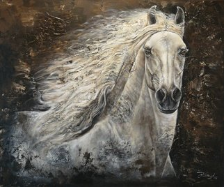 Paula Collewijn; Serenity, 2008, Original Painting Acrylic, 120 x 100 cm. Artwork description: 241 Horse, horse, paard, paarden, cheval, pferd...
