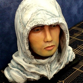 Angel Piangelo Papangelou, , , Original Sculpture Mixed, size_width{ALTAIR_THE_ASSASSIN-1543604650.jpg} X 34 cm