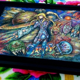 Angel Piangelo Papangelou, , , Original Painting Oil, size_width{SUPER_METROID_SAMUS_JP_edit_by_Angel_P-1543606596.jpg} X 42 cm