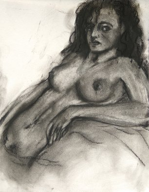 Animesh Roy; Beloved, 2019, Original Drawing Charcoal, 8 x 11 inches. Artwork description: 241 Nudes are one of passions. . ...