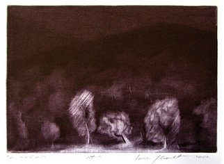 Anita Jovanovic; The Night, 2006, Original Printmaking Intaglio, 18.5 x 26.5 cm. Artwork description: 241   mezzotint    ...