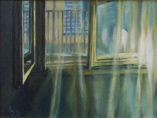Anita Jovanovic; The Window, 2007, Original Painting Oil, 40 x 30 cm.