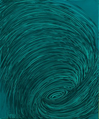 Andrea Mulcahy; Teal Whirlpool, 2013, Original Painting Oil, 20 x 24 inches.