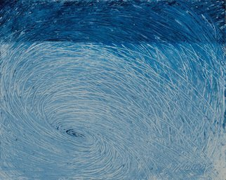 Andrea Mulcahy; Whirlpool In White, 2013, Original Painting Oil, 20 x 16 inches.