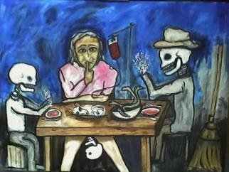 Anna-Marie Lopez; EVENING MEAL , 2010, Original Painting Acrylic, 40 x 30 inches.