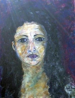 Anna-Marie Lopez; MYSELF, 2014, Original Painting Acrylic, 18 x 20 inches.