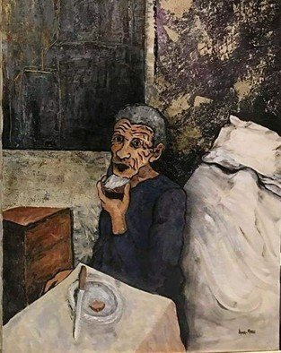 Anna-Marie Lopez; Vieja, 2001, Original Painting Acrylic, 24 x 32 inches. Artwork description: 241 We forget those with less. ...
