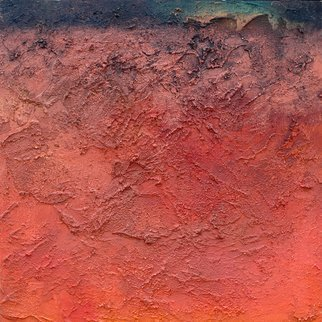 Anne Schwartz; Inferno 126, 2009, Original Painting Oil, 22 x 22 inches. Artwork description: 241 Small, texture, red, black, mysterious, oil, ...