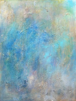 Anne Schwartz; Oceana 113, 2008, Original Mixed Media, 36 x 48 inches. Artwork description: 241 Blue, ocean, large, texture, soft colors, mixed media...
