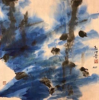 Chongwu Ao; Au 7 Rising I, 2019, Original Painting Ink, 68 x 68 cm. Artwork description: 241 Original Abstract Ink Painting On The Rice Paper. Freedom your true feelings is the portrayal of my artworks. It shows Asian cultural elements and humanistic spirit and is magnificent, open, natural, and has no limit. ...