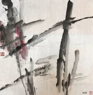 Chongwu Ao; Au 8 Pond, 2019, Original Painting Ink, 68 x 68 cm. Artwork description: 241 Original Abstract Ink Painting On The Rice Paper. Freedom your true feelings is the portrayal of my artworks. It shows Asian cultural elements and humanistic spirit and is magnificent, open, natural, and has no limit. ...