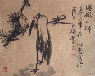 Chongwu Ao; Sh 20 Bird, 2012, Original Painting Ink, 46 x 32 cm. Artwork description: 241 Original Abstract Ink Painting On The Rice Paper. Freedom your true feelings is the portrayal of my artworks. It shows Asian cultural elements and humanistic spirit and is magnificent, open, natural, and has no limit. ...