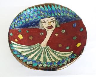 Agnieszka Parys Kozak; Welcome To The Circus, 2011, Original Sculpture Ceramic, 40 x 10 cm. Artwork description: 241  bowl, circus, clown, colourful, interior design, utility ceramics ...