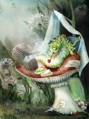 Joanna Pasek; Life On The Mushroom, 2013, Original Watercolor, 21 x 30 cm. Artwork description: 241   Watercolor and acrylic paints. Brunnen 250 g watercolor paper. Signed on the backside.        ...