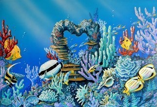 Environmental Artist Apollo; Reef Luvin It, 2011, Original Painting Acrylic, 36 x 24 inches. Artwork description: 241