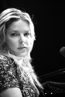 Luciano Armando Arcangeli; Diana Krall, 2019, Original Photography Black and White, 120 x 180 cm. Artwork description: 241 Diana Krall, live in Ghent, suddenly she took one second deep in my camera lens. . .  Limited edition only one sample.  Printed on Aluminium Dibond with glossy protector.  Expedition worldwide from Belgium.  ...