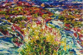 Mary Hatch; Abiqui Stream, 2008, Original Painting Acrylic, 40 x 30 inches. Artwork description: 241  Part of the New Mexico Series. Painting of the Abiqui River, close to Ghost Ranch. Brilliant colors, inspired by the mountains in the area. ...