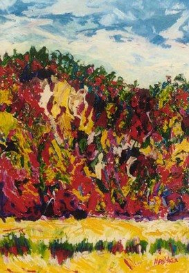 Mary Hatch; Carson National Forest, 2016, Original Painting Acrylic, 30 x 40 inches. Artwork description: 241 Part of the New Mexico Series. Painting of the Carson National Forest. Brilliant colors, inspired by the mountains in the area. ...