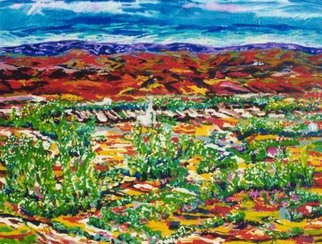 Mary Hatch; Mexico Oasis, 2009, Original Painting Acrylic, 72 x 60 inches. Artwork description: 241 Part of the New Mexico Series. Painting of the Southwest. Brilliant colors, inspired by the mountains in the area. ...