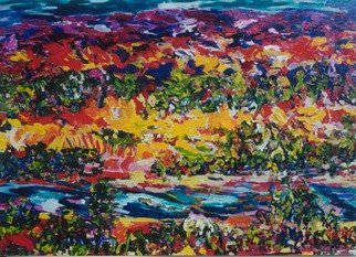 Mary Hatch; New Mexico Riverbed, 2008, Original Painting Acrylic, 40 x 30 inches. Artwork description: 241  Part of the Southwest- New Mexico Series. Painting of the Abiqui River, close to Ghost Ranch. Brilliant colors, inspired by the mountains in the area. ...