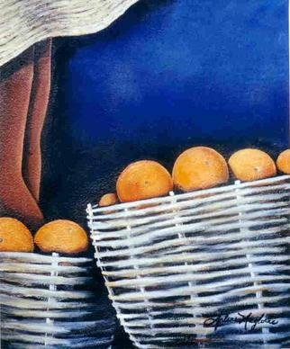 Arlene Magloire; Oranges For Sale, 2000, Original Mixed Media, 20 x 24 inches.